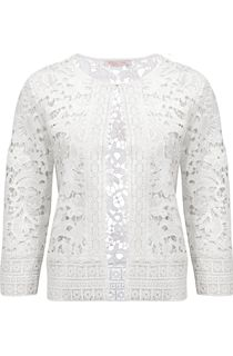 Anna Rose Lace Open Cover Up - Ivory