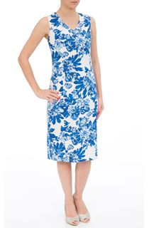 Anna Rose Printed Linen Blend Midi Dress