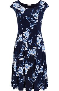 Anna Rose Panelled Jersey Floral Dress