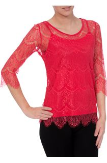Three Quarter Lace Top