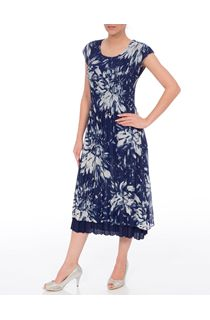 Anna Rose Floral Pleated Midi Dress