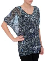 Embellished Floral Georgette Cover Up