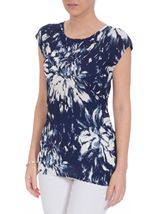 Anna Rose Sleeveless Pleat Top
