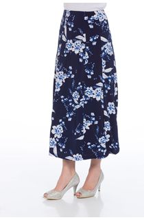 Anna Rose Panelled Floral Print Skirt