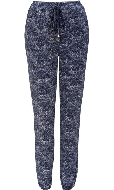 Printed Elasticated Trousers