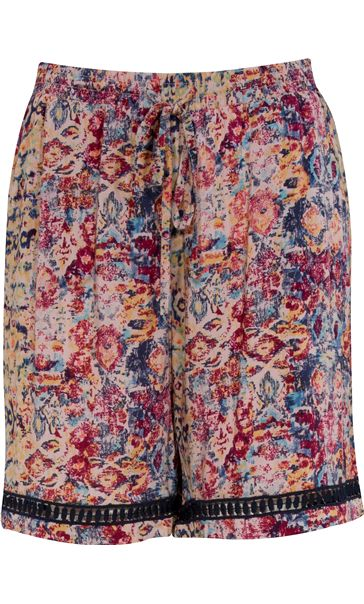Bold Floral Printed Elasticated Waist Shorts
