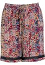 Bold Floral Printed Elasticated Waist Shorts - BLUE/MULTI - 18