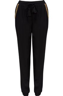 Tassel Trim Elasticated Waist Trousers