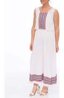 Embroidered Sleeveless Maxi Dress