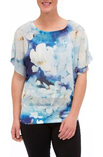 Watercolour Floral Embellished Top