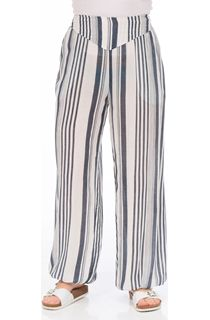 Striped Tie Cuff Trousers
