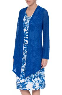 Anna Rose Long Sleeve Open Cover Up - Cobalt