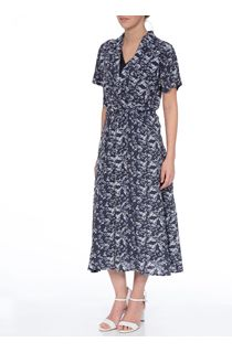 Anna Rose Floral Short Sleeve Midi Dress