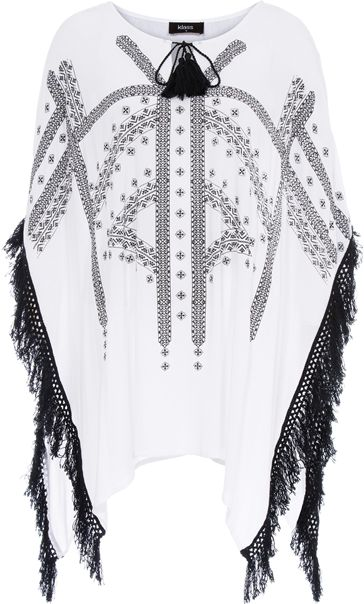 Fringed Crinkle Cover Up