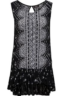 Sleeveless Placement Print Tunic