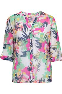 Anna Rose Floral Chiffon Blouse
