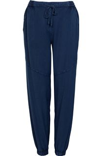 Elasticated Waist Lightweight Trousers - Dark Blue