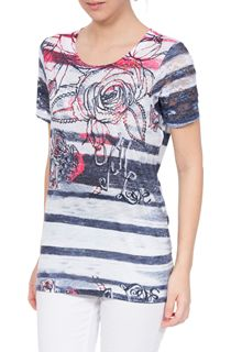 Anna Rose Embellished Print Jersey Top