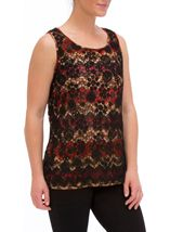 Crochet Layered Sleeveless Top