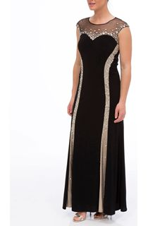 Luxury Embellished Panel Maxi Dress