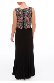 Embroidered Floral Luxury Maxi Dress