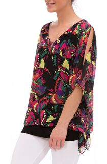 Split Sleeve Kimono Layered Top
