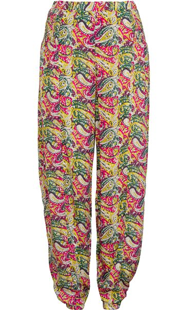Printed Elasticated Waist And Cuff Trousers