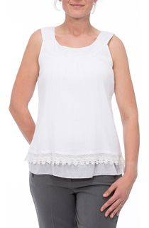 Sleeveless Embroidered Round Neck Top