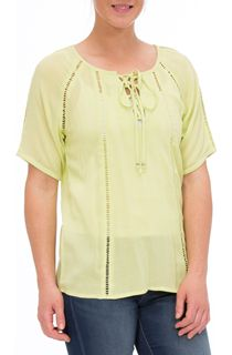 Anna Rose Round Neck Crepe Top