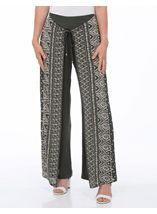 Printed Wrap Front Trousers