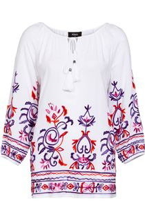 Embroidered Boho Tunic - White