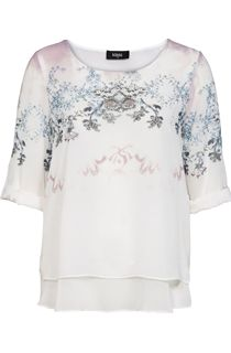Embellished Layered Georgette Top