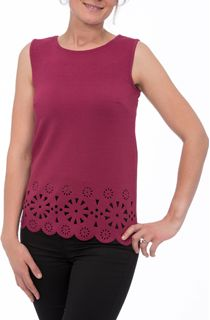 Laser Cut Sleeveless Stretch Top