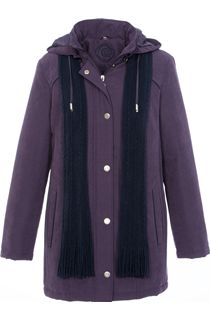 Anna Rose Scarf Coat - Purple