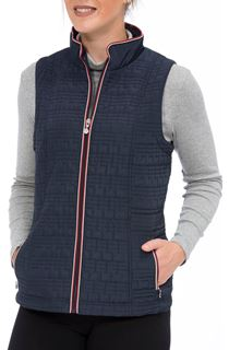 Anna Rose Zip Gilet - Blue