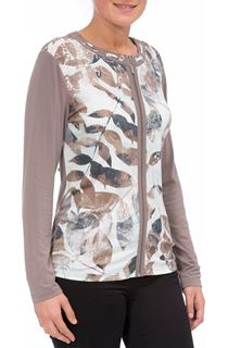 Anna Rose Printed Unlined Zip Jacket