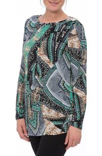 Printed Long Sleeve Jersey Tunic