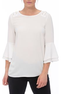 Three Quarter Bell Sleeve Top - Ivory