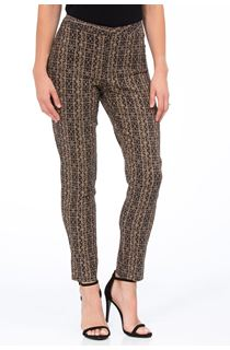 Printed Narrow Leg Trousers