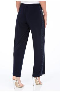 Anna Rose Wide Leg Sequin Panel Trousers
