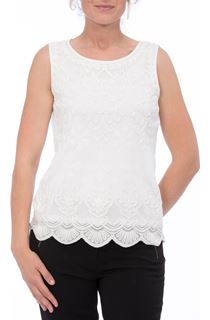Anna Rose Tape Work Sleeveless Top