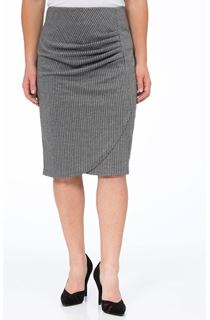 Striped Slim Fit Midi Skirt