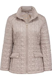 Quilted Zip Coat