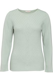 Anna Rose Cable Detail Knit Top - Mint