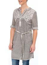 Washed Embroidered Cotton Tunic