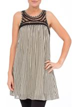 Sleeveless Striped Tunic