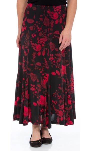 Anna Rose Floral Flare Panel Skirt