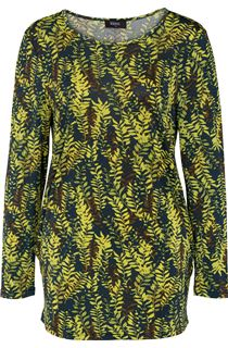 Botanical Print Ruched Tunic