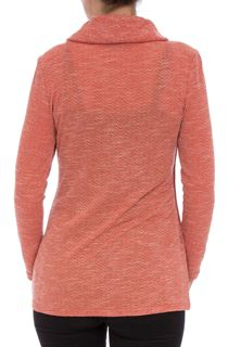 Cowl Neck Wrap Over Top - Red