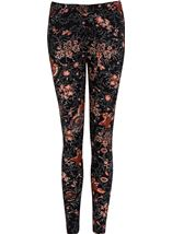 Floral Print Full Length Leggings